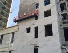 <b>水泥发泡板大面积外墙粉刷过程,墙面平整</b>